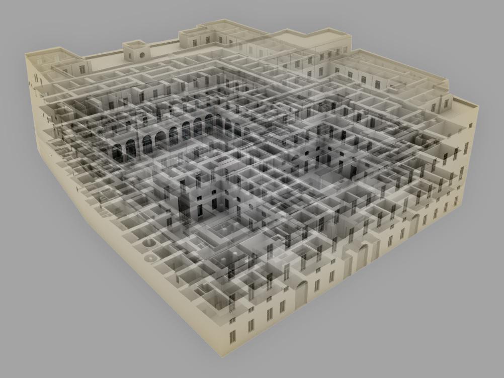 Modelo BIM Vista Isometrica M. Hacienda
